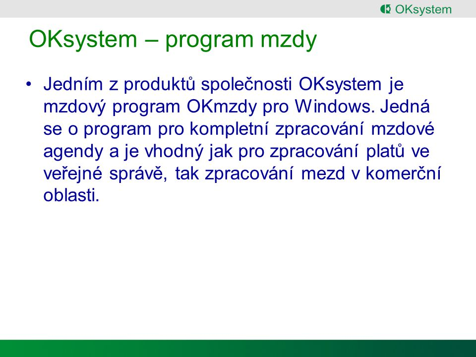 OKsystem – program mzdy