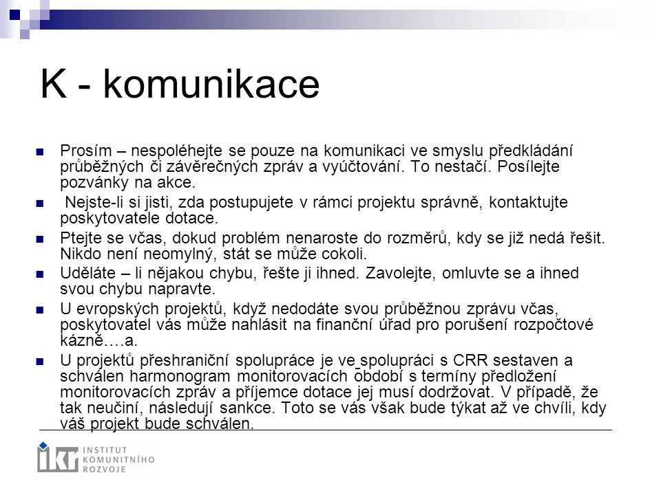 K - komunikace
