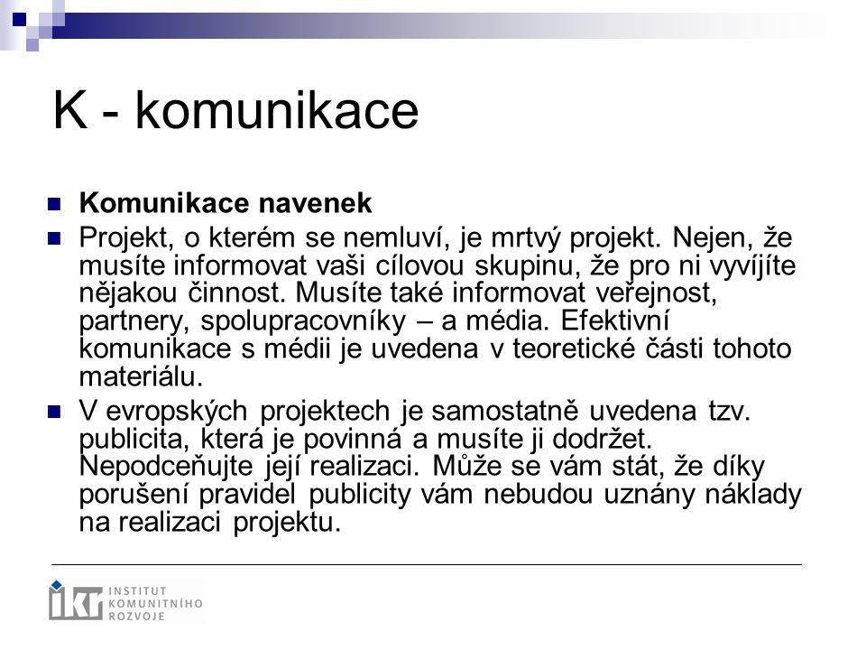 K - komunikace Komunikace navenek