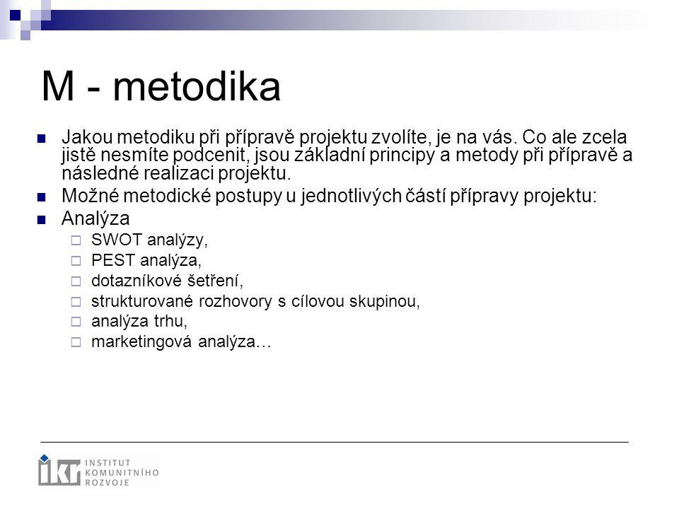 M - metodika