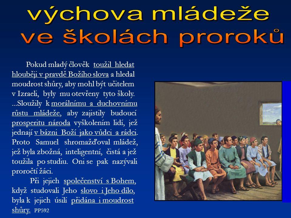 výchova mládeže ve školách proroků