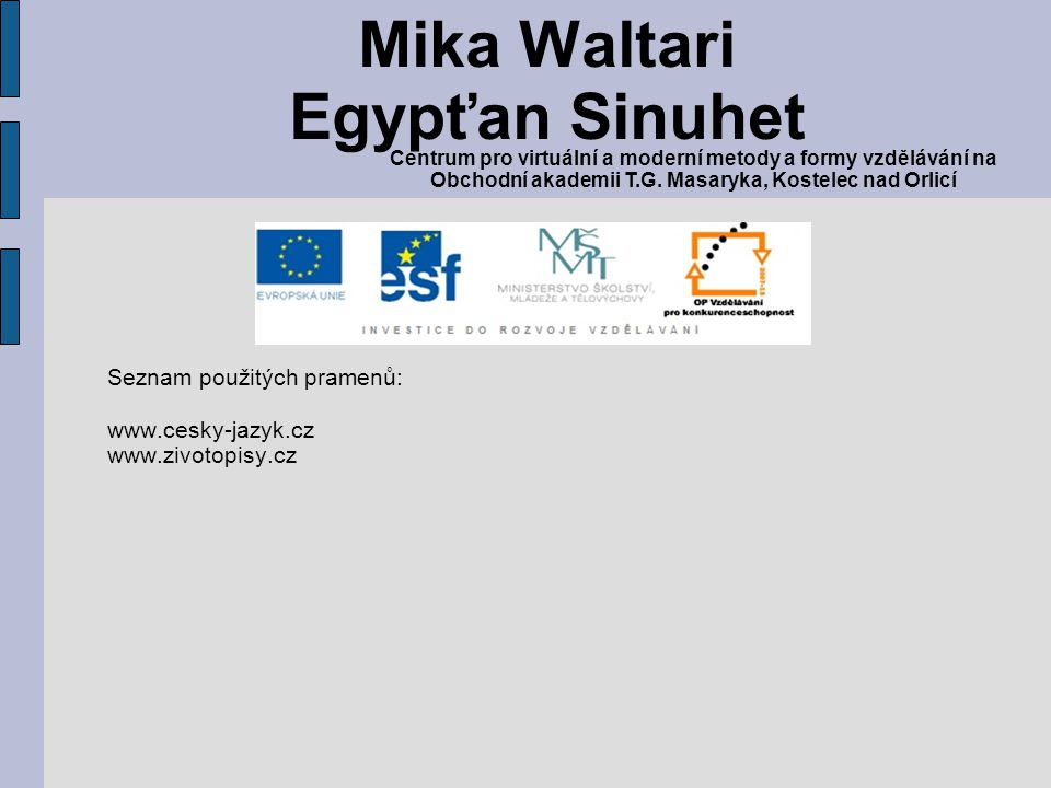 Mika Waltari Egypťan Sinuhet