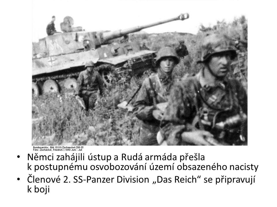 Němci zahájili ústup a Rudá armáda přešla k postupnému osvobozování území obsazeného nacisty