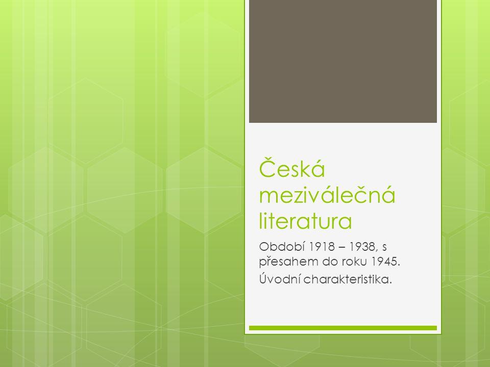 Česká meziválečná literatura