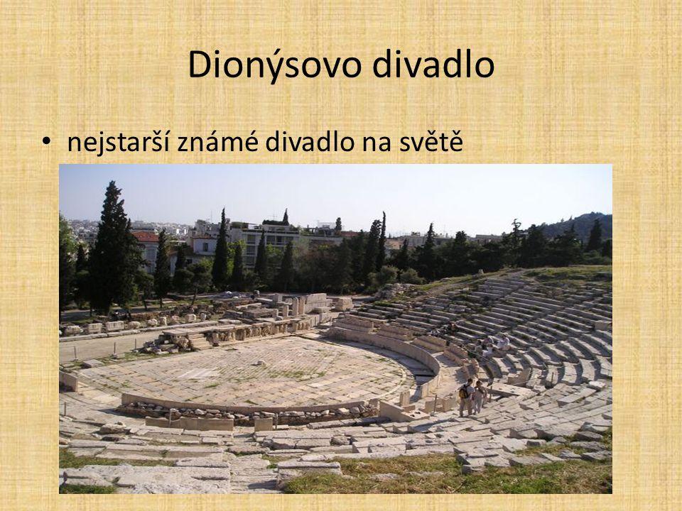 Dionýsovo divadlo nejstarší známé divadlo na světě