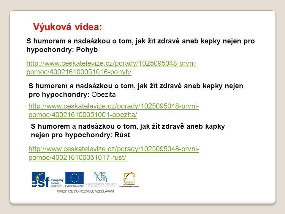 Výuková videa: S humorem a nadsázkou o tom, jak žít zdravě aneb kapky nejen pro hypochondry: Pohyb