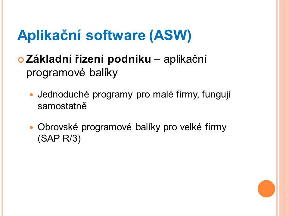 Aplikační software (ASW)