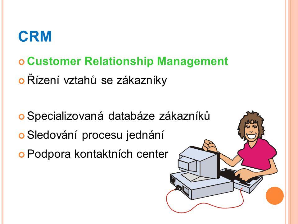 CRM Customer Relationship Management Řízení vztahů se zákazníky