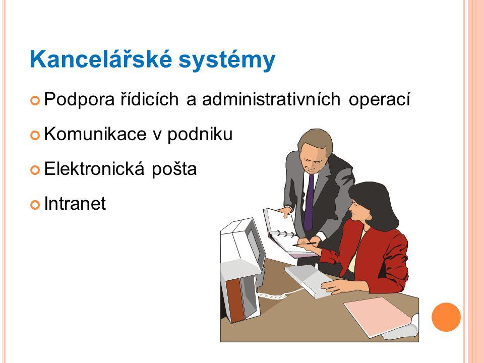 Kancelářské systémy Podpora řídicích a administrativních operací