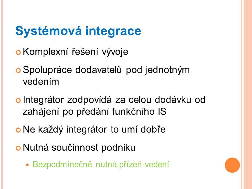 Systémová integrace Komplexní řešení vývoje