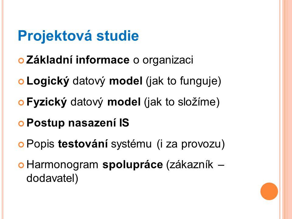 Projektová studie Základní informace o organizaci