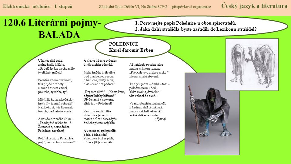 120.6 Literární pojmy- BALADA