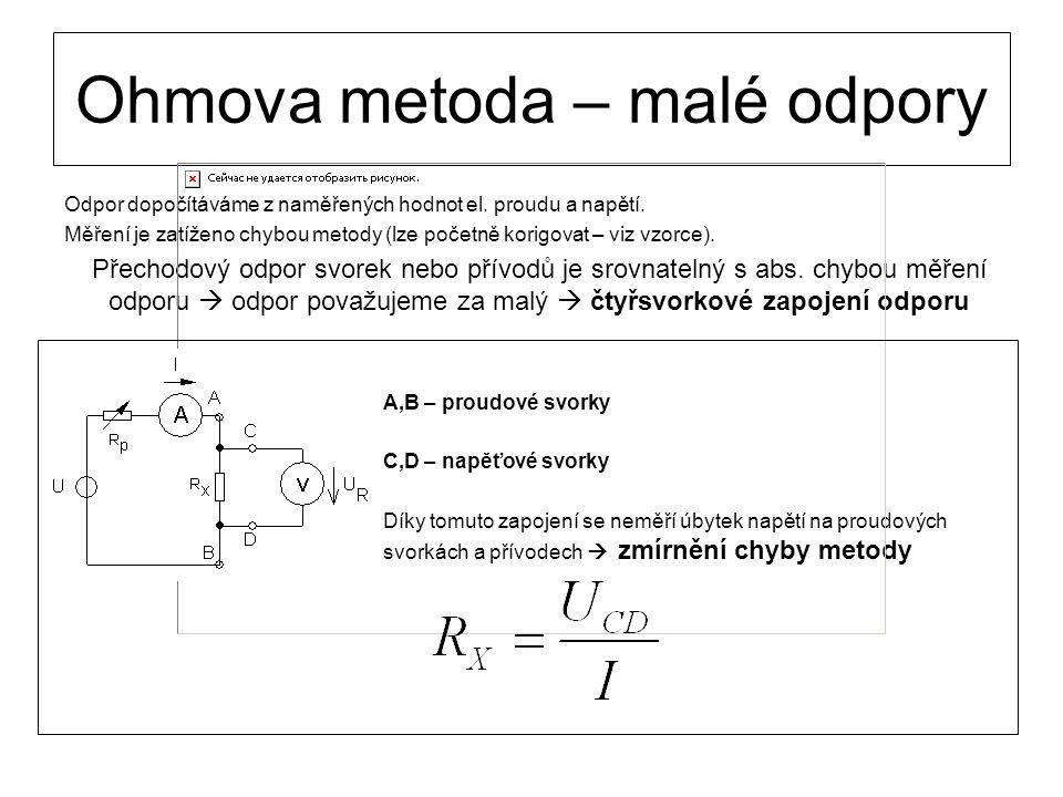 Ohmova metoda – malé odpory