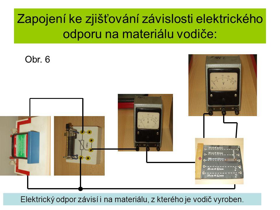 Elektrický odpor závisí i na materiálu, z kterého je vodič vyroben.