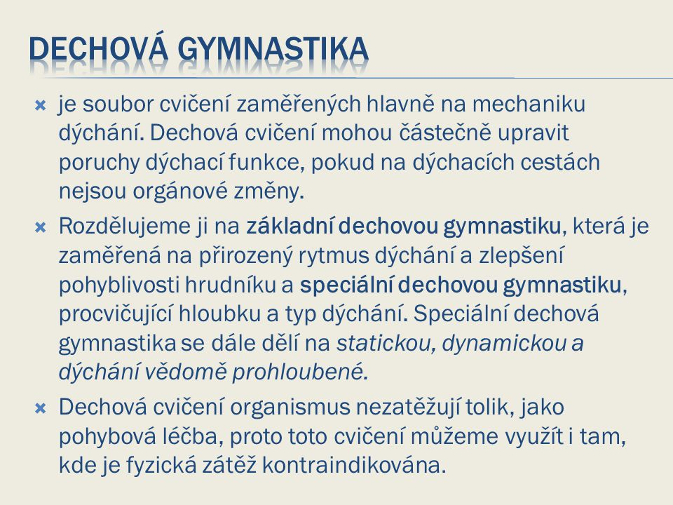 Dechová gymnastika