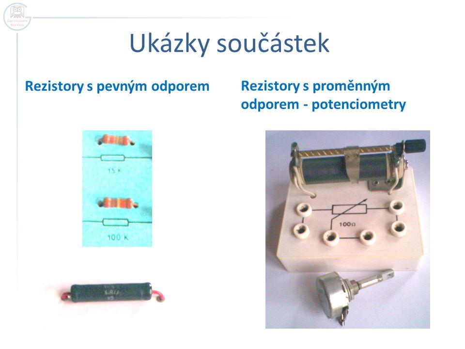 Ukázky součástek Rezistory s pevným odporem