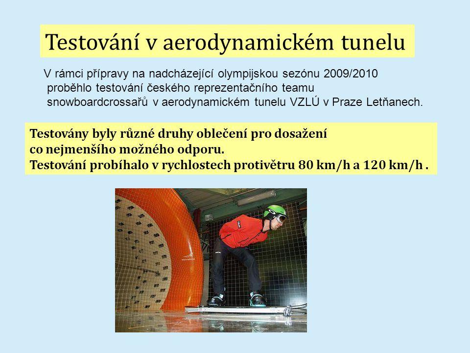Testování v aerodynamickém tunelu
