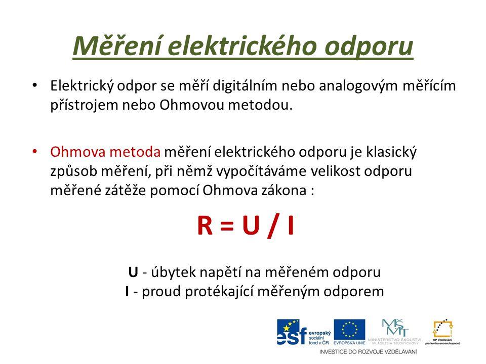 Měření elektrického odporu