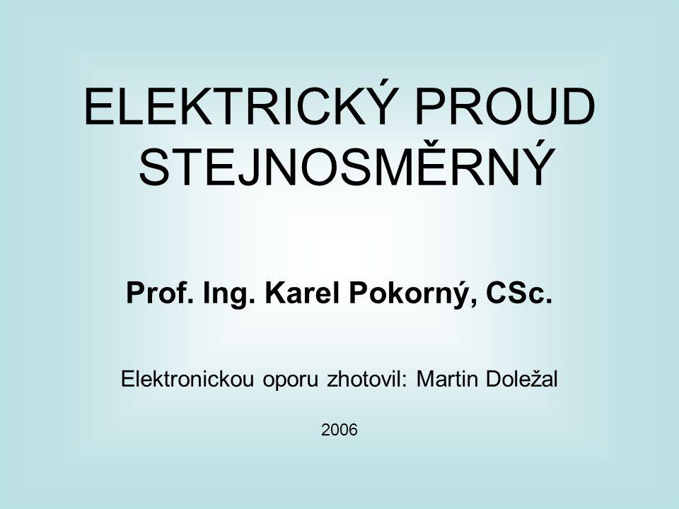 Prof. Ing. Karel Pokorný, CSc.