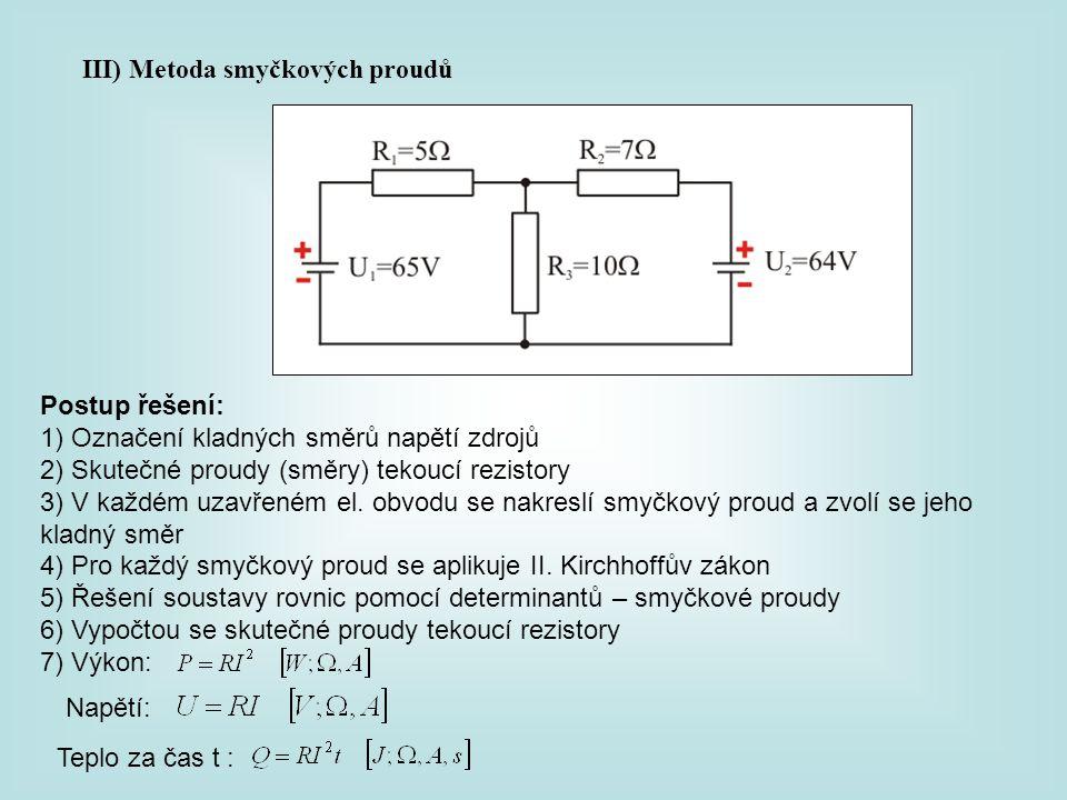 III) Metoda smyčkových proudů