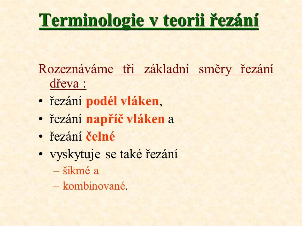 Terminologie v teorii řezání