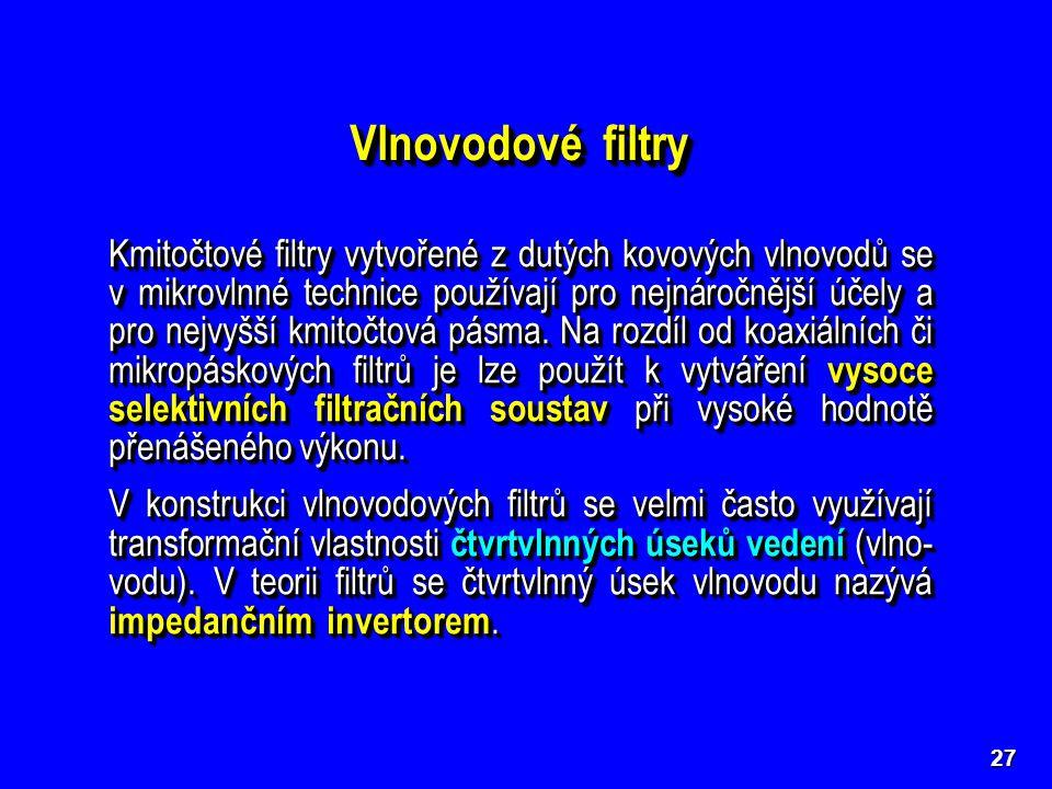 Vlnovodové filtry