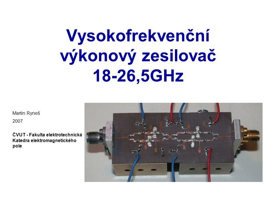 Vysokofrekvenční výkonový zesilovač 18-26,5GHz