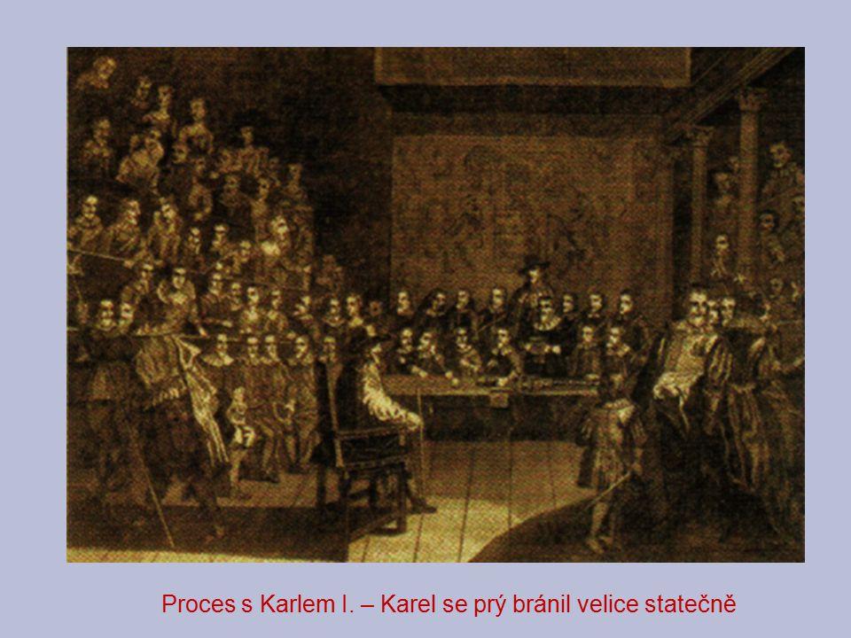 Proces s Karlem I. – Karel se prý bránil velice statečně