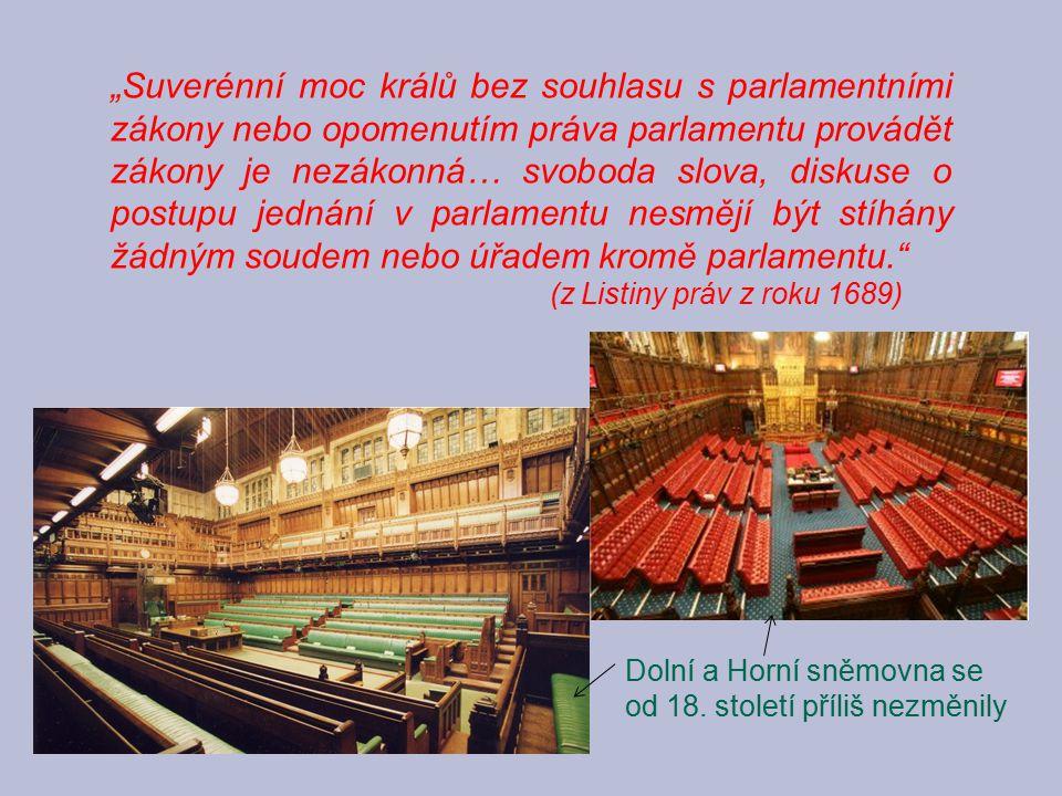 """""""Suverénní moc králů bez souhlasu s parlamentními zákony nebo opomenutím práva parlamentu provádět zákony je nezákonná… svoboda slova, diskuse o postupu jednání v parlamentu nesmějí být stíhány žádným soudem nebo úřadem kromě parlamentu."""