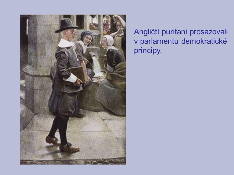 Angličtí puritáni prosazovali