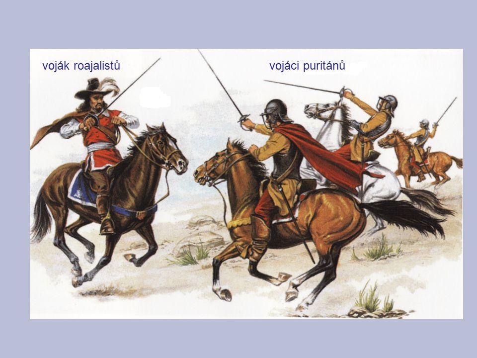 voják roajalistů vojáci puritánů