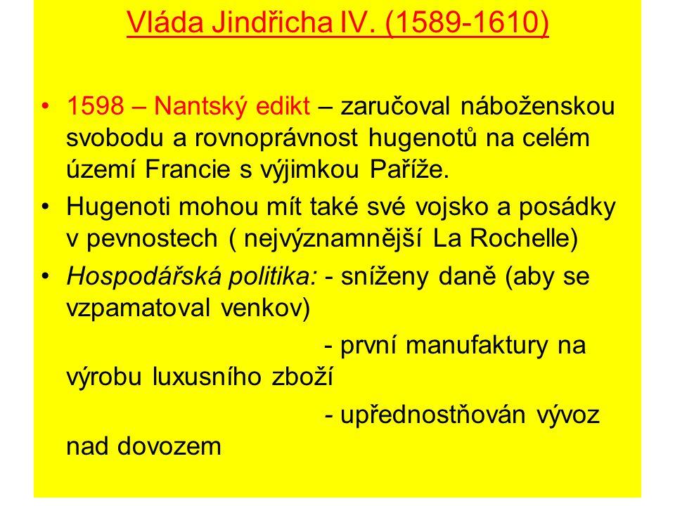 Vláda Jindřicha IV. (1589-1610)
