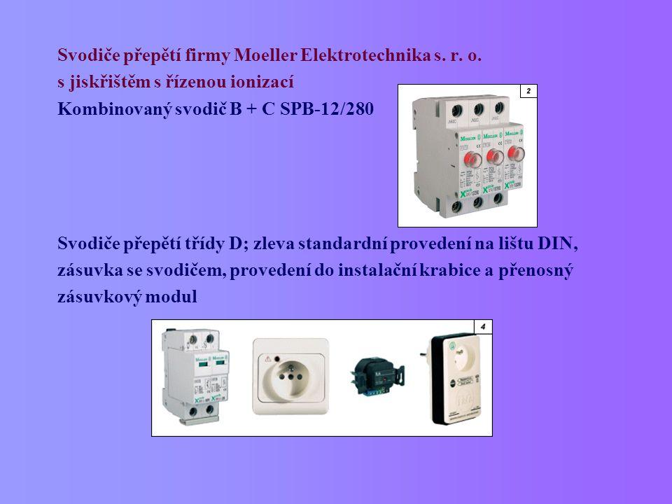Svodiče přepětí firmy Moeller Elektrotechnika s. r. o.
