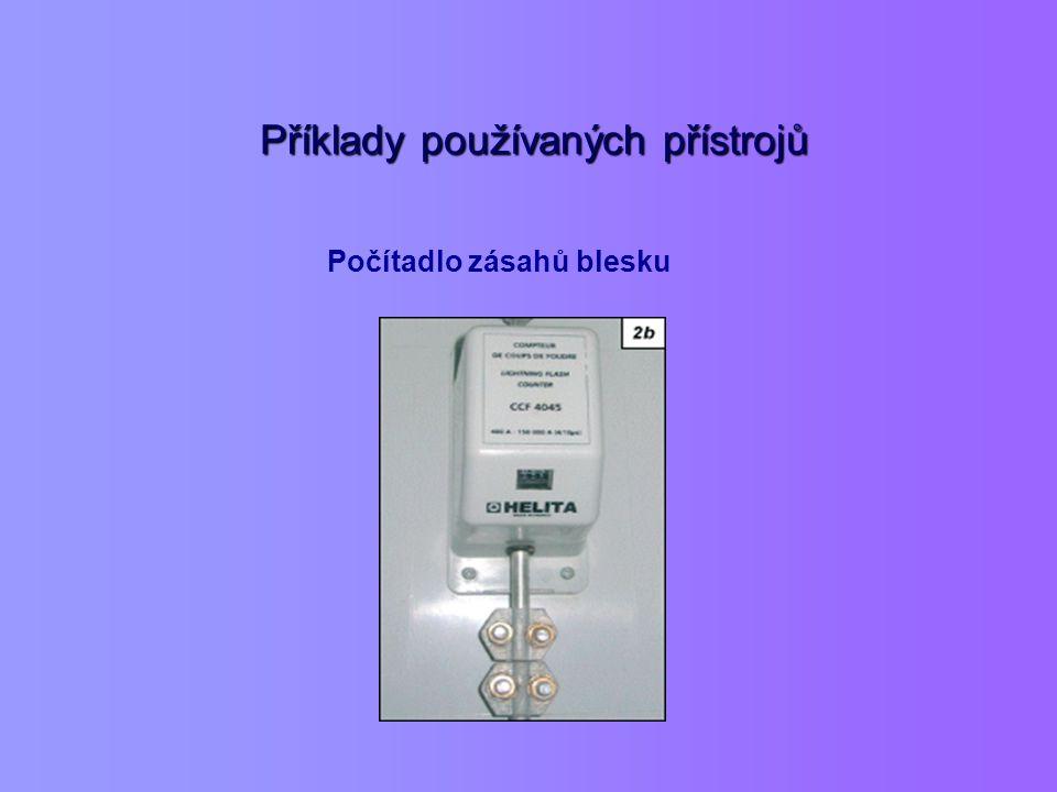 Příklady používaných přístrojů