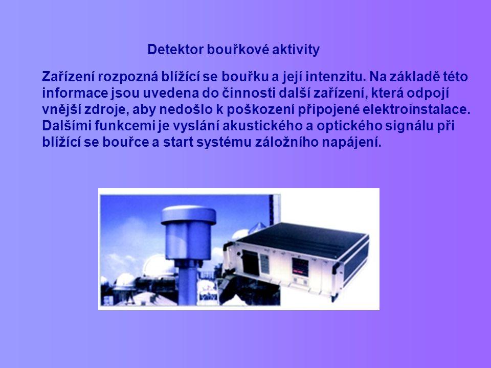 Detektor bouřkové aktivity