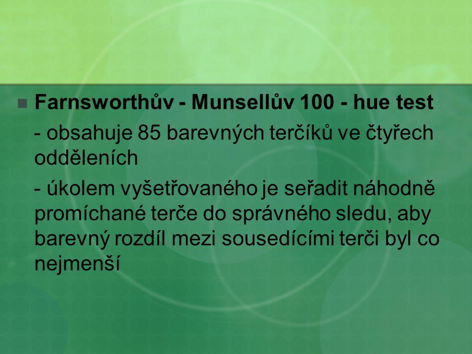 Farnsworthův - Munsellův 100 - hue test
