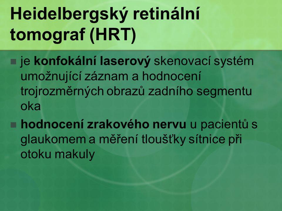 Heidelbergský retinální tomograf (HRT)