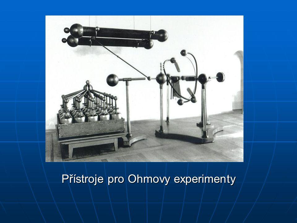 Přístroje pro Ohmovy experimenty