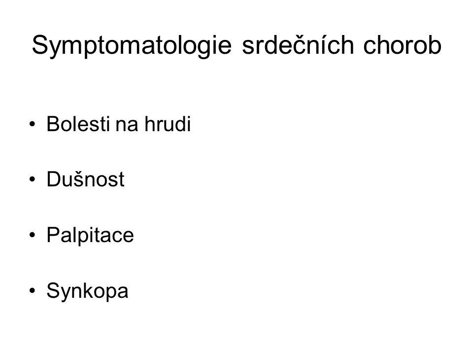 Symptomatologie srdečních chorob