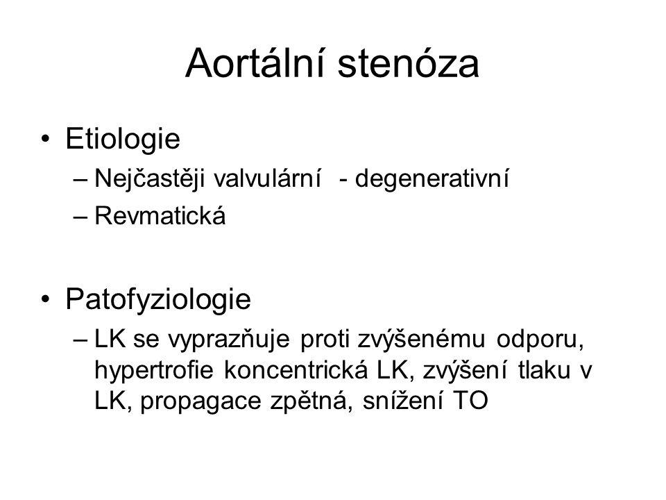 Aortální stenóza Etiologie Patofyziologie