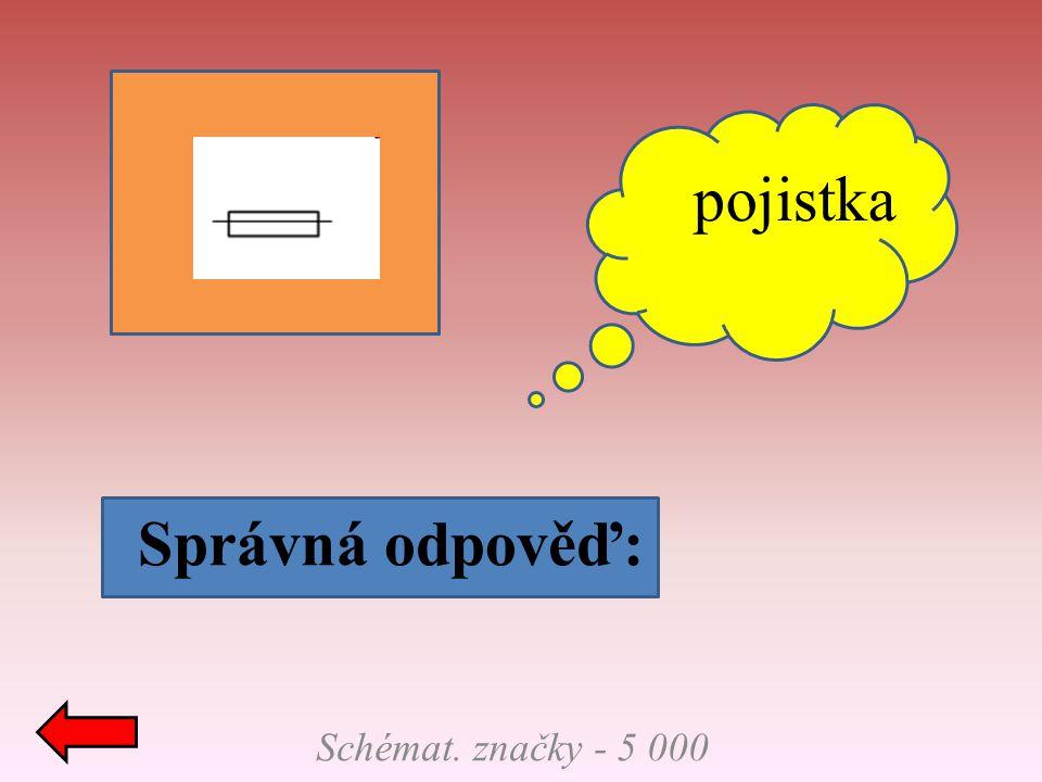 pojistka Správná odpověď: Schémat. značky - 5 000