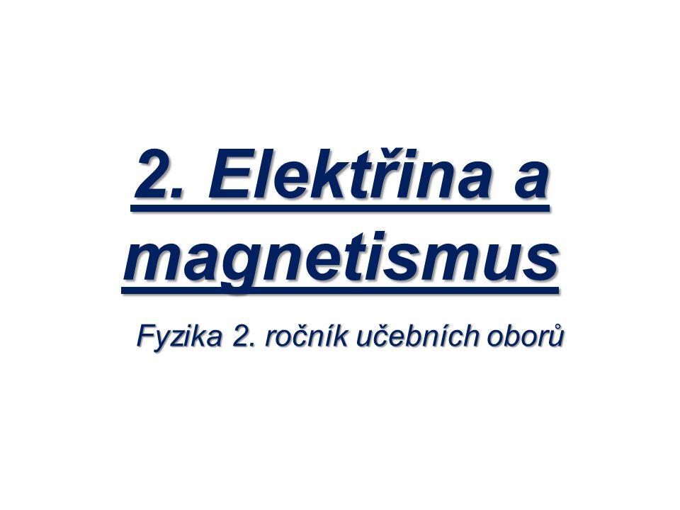 2. Elektřina a magnetismus