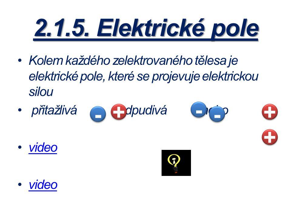 2.1.5. Elektrické pole - + + - - +