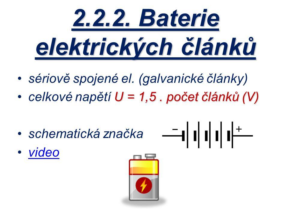 2.2.2. Baterie elektrických článků