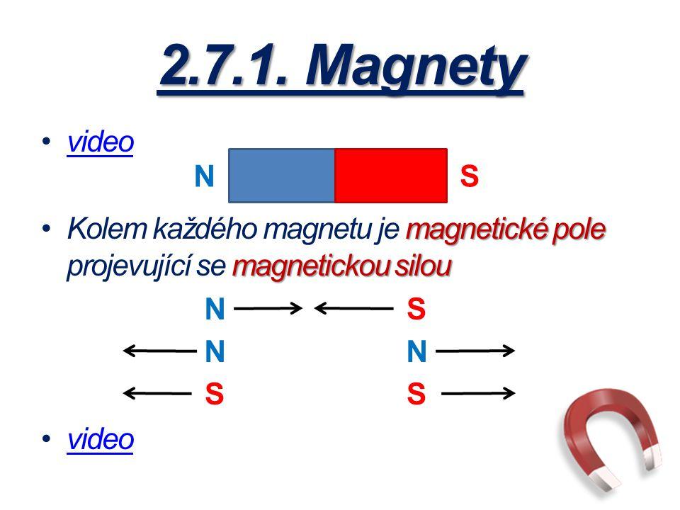 2.7.1. Magnety video. Kolem každého magnetu je magnetické pole projevující se magnetickou silou. N.
