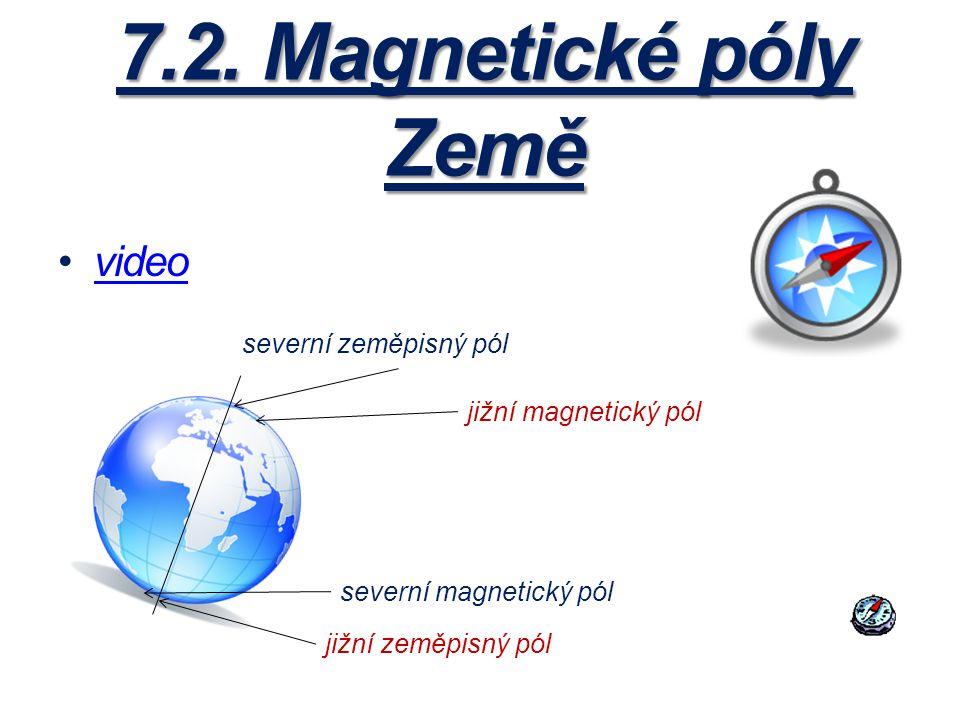 7.2. Magnetické póly Země video severní zeměpisný pól