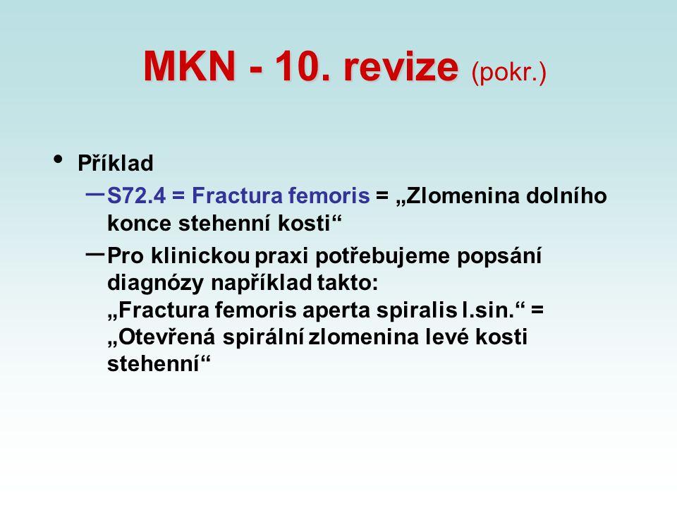 MKN - 10. revize (pokr.) Příklad