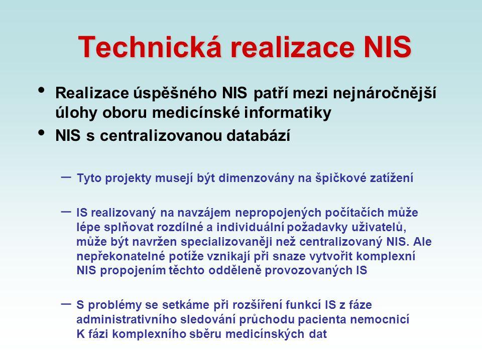Technická realizace NIS