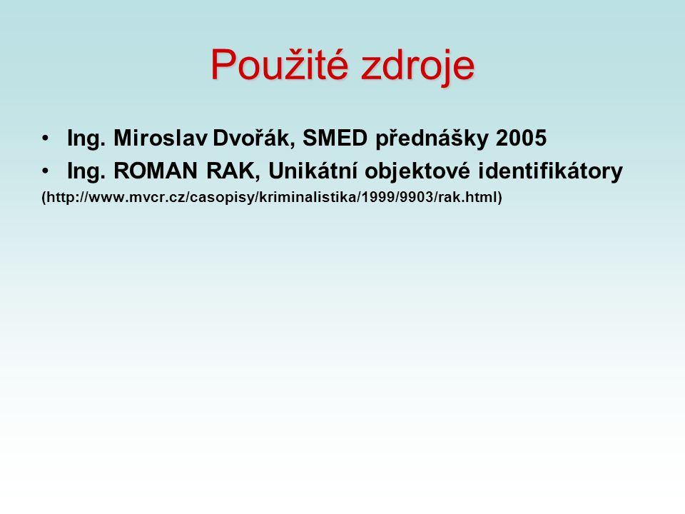 Použité zdroje Ing. Miroslav Dvořák, SMED přednášky 2005