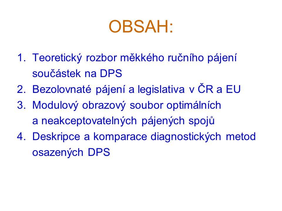 OBSAH: 1. Teoretický rozbor měkkého ručního pájení součástek na DPS